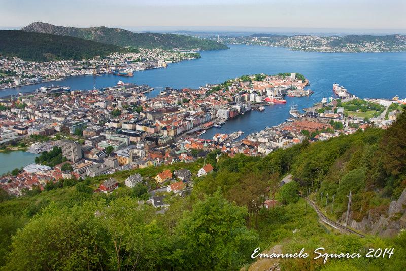Bergen. Ulriken lookout