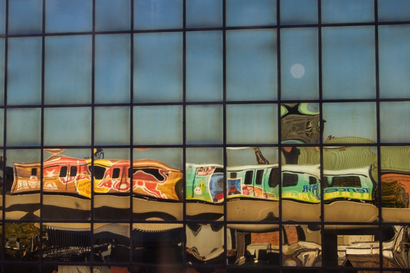 People Mover Reflected (My Picasso)