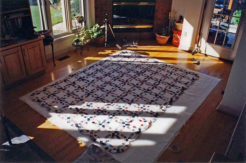 preparation for quilt backing
