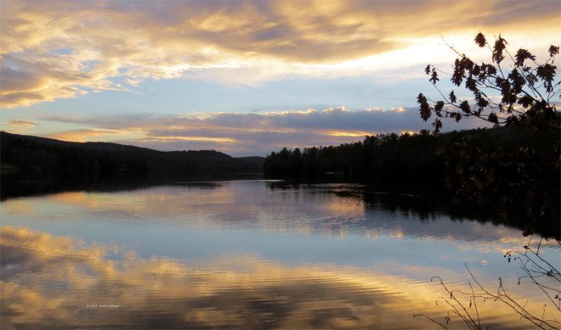 Sunset at Lake Fairlee