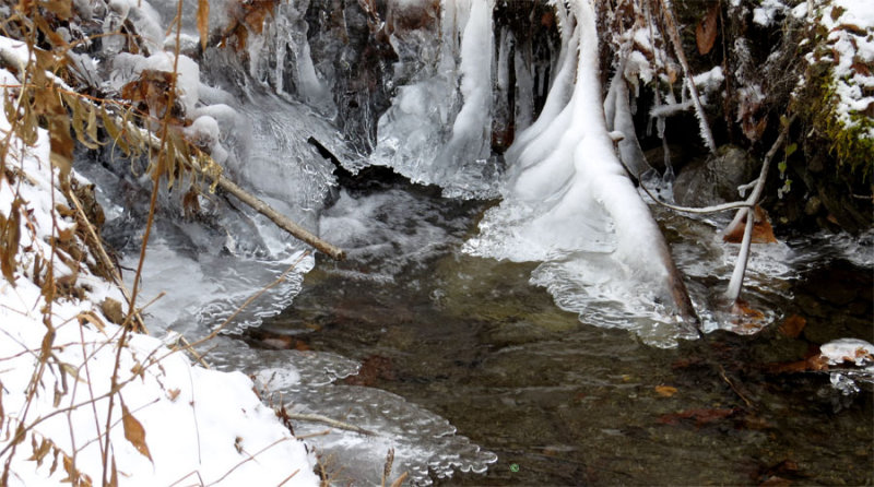 Ice in Stream