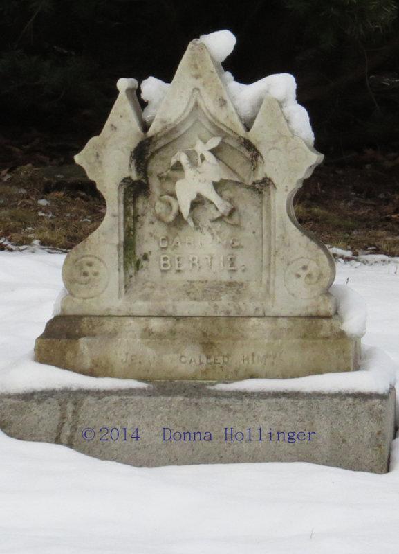 Childs Grave Marker:  Darling Bertie