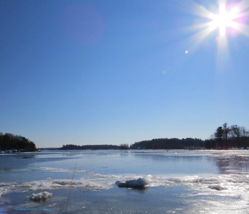 Sun Over Newburyport Ice
