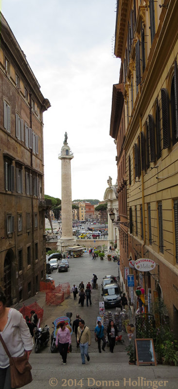 Trajans Column From the Stairs Above