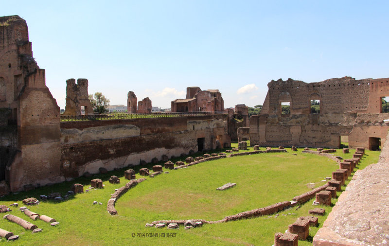 Gargantuan Palazzi on the Palatine Hill