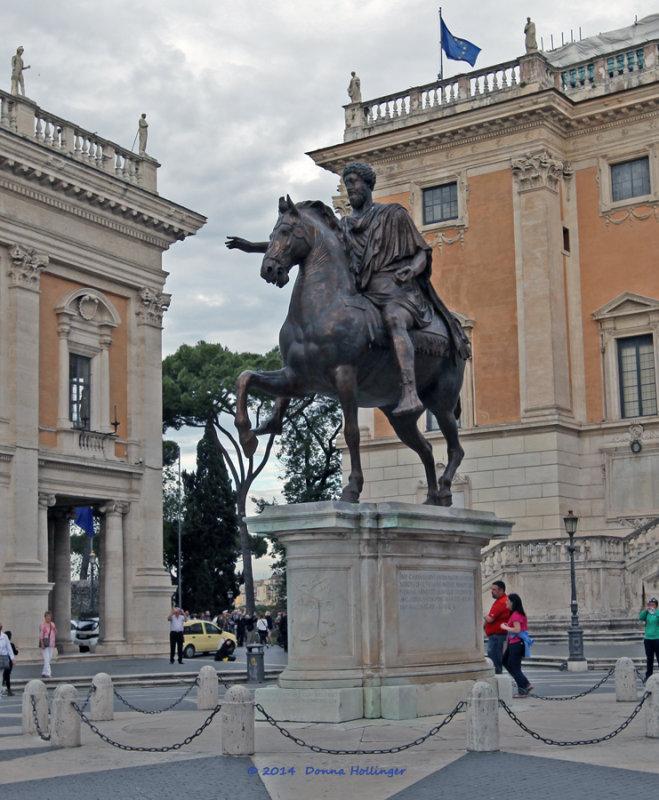 Marcus Aurelius on his horse