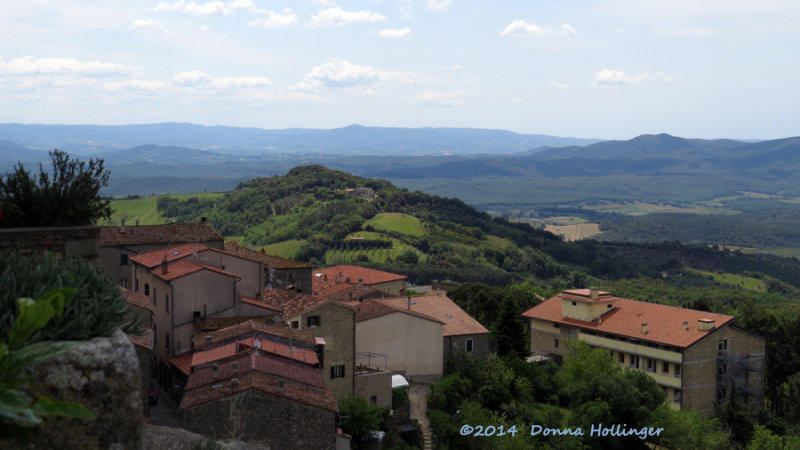 Looking out from the Top of Roccastrada