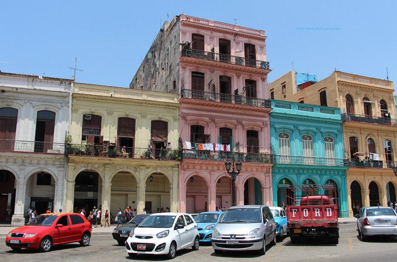 Street Block in Downtown Havana
