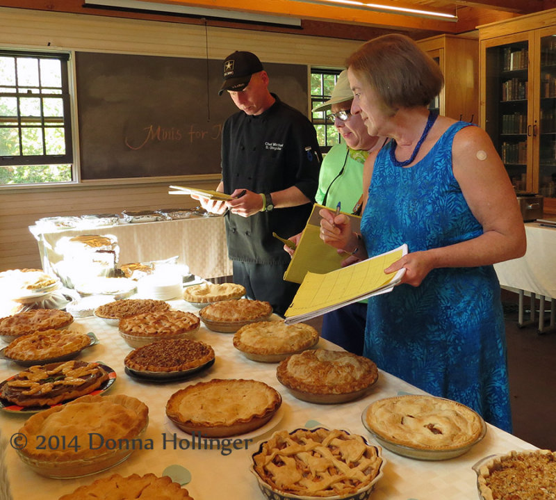 Michael, Ann and Ingrid Judging the Pies