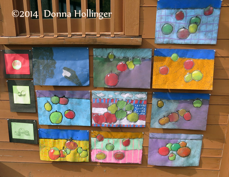 Apple Art used for the Apple Fest from Newton School