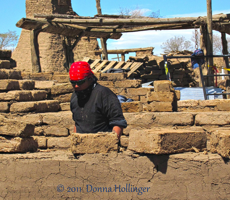 Making Adobe Bricks in Taos Pueblo