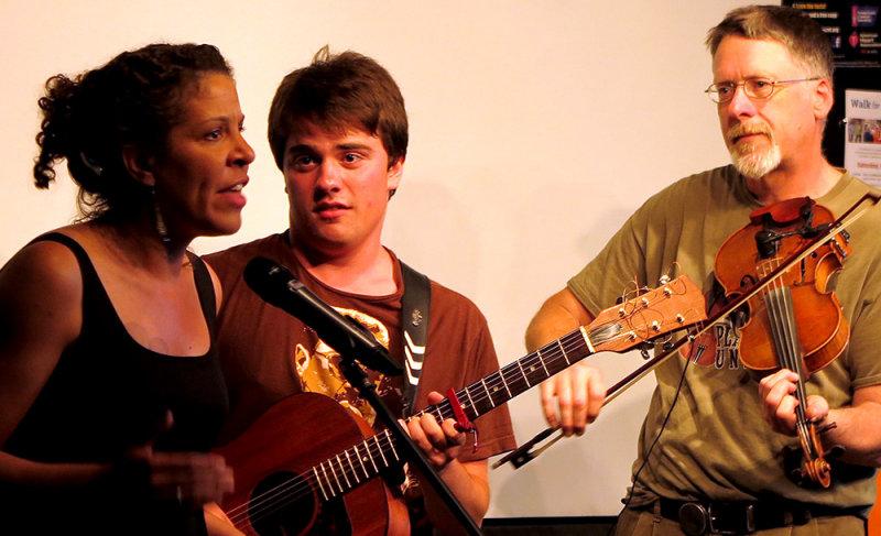Amber, Dan, and       Performing