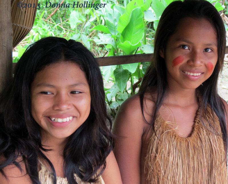 Two Teenage Girls in the Yagua Village