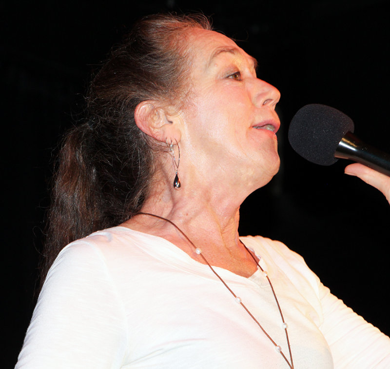 Linda Singing New Years Eve, 2014