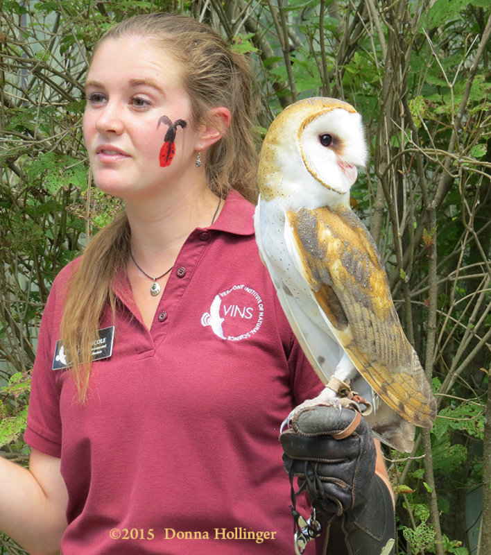 Barn Owl with Jacquie
