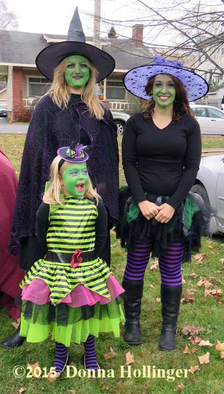 Green Faces and Witch Hats