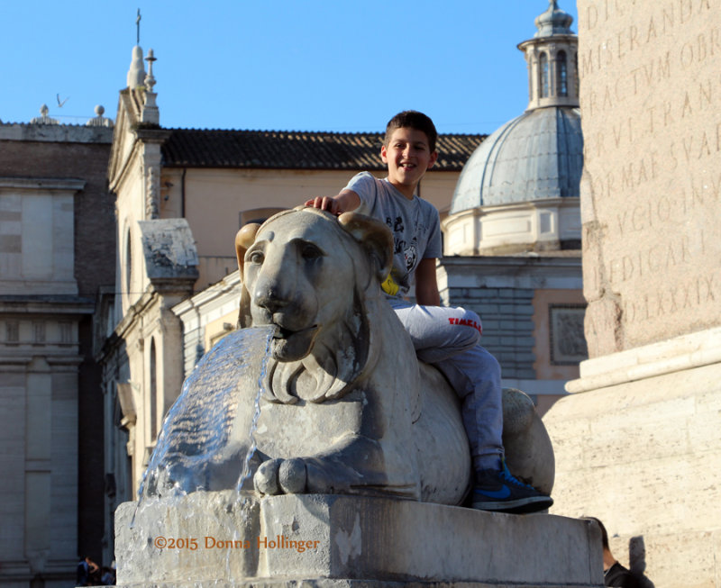 Sphinx with Child, Piazza Del Populo