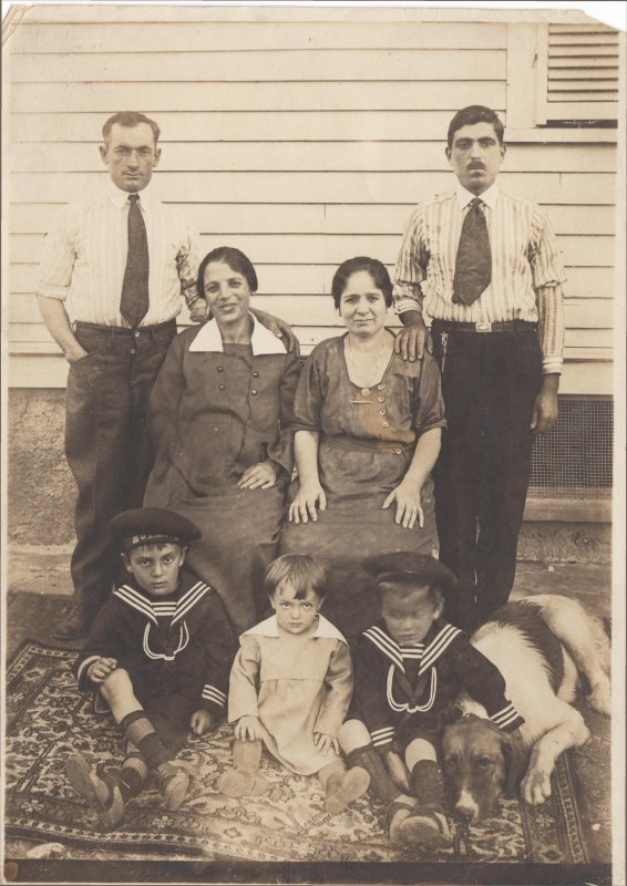 Luigi and Marianine with Children and Dog