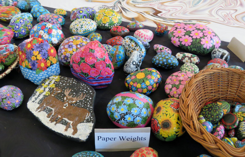 This group of rocks are hand painted by DDs Aunt