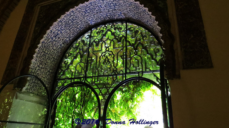 Arabic Designed Window at the Real Alcazar