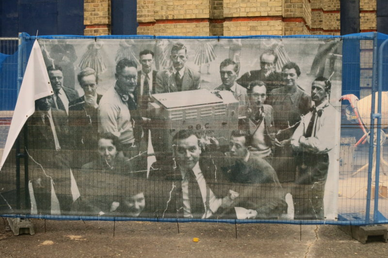 A  poster  on  hoarding  at  the  Ally  Pally.