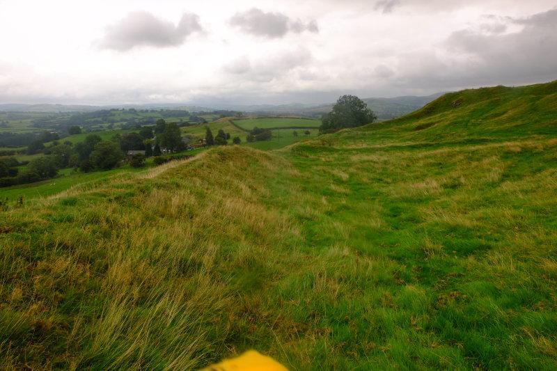 Cefn-llys  castle 1 , northern  boundary, looking  east.(2)