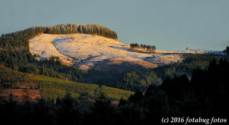 A Bit of Snow on Drury Butte