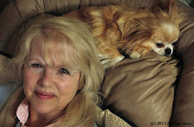 Carol and Miko in Her Recliner
