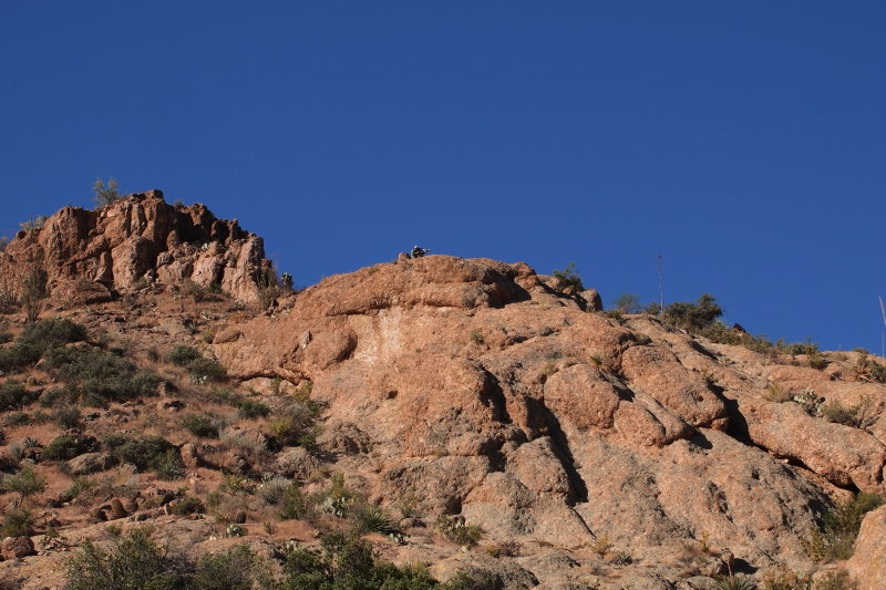 National Geographic Camera Crew Above the High Trail Filming Vultures