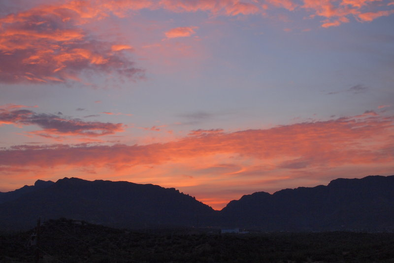 Sunrise over Queen Creek Canyon