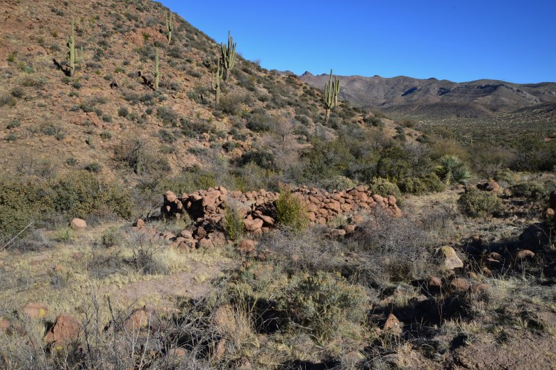 Stone structure on White Water Spring Road - Tonto National Forest