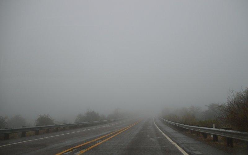 Fog beyond Queen Creek tunnel