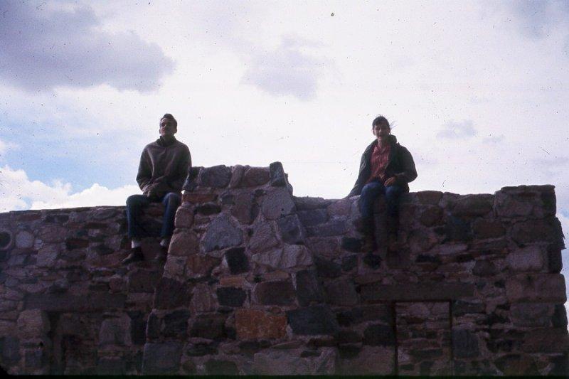 1970 Johnny Lerayne on top. Stone building McDowell Mountains