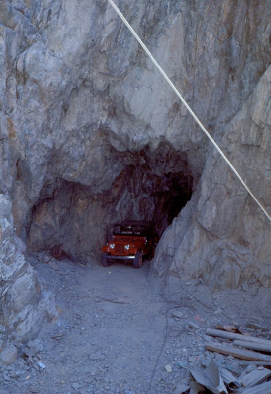1970 Jeep in the upper level of DeSoto Mine