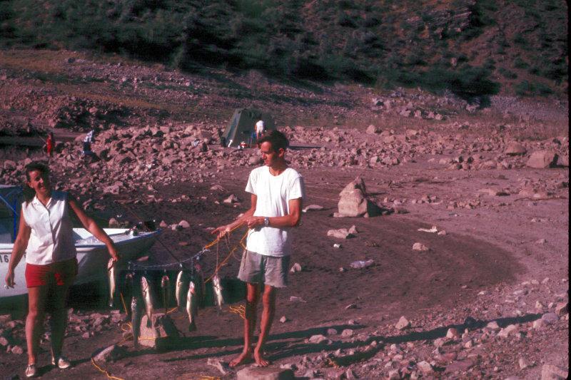1971 Shirley and Johnny. Roosevelt Lake