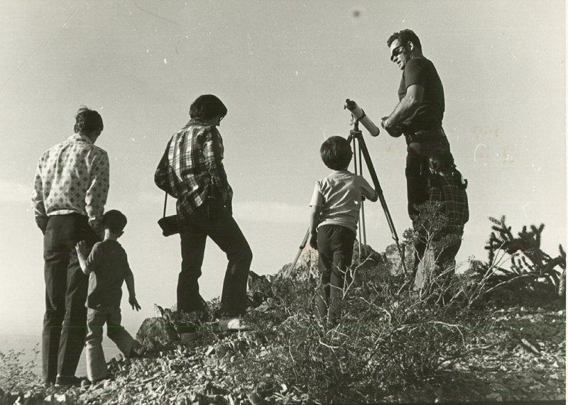 1975 San Tan Mountains. Johnny, Jason, Shirley, Jennifer and David