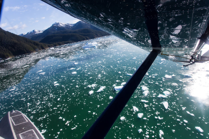 Top view of LeConte Ice Field from Float Plane