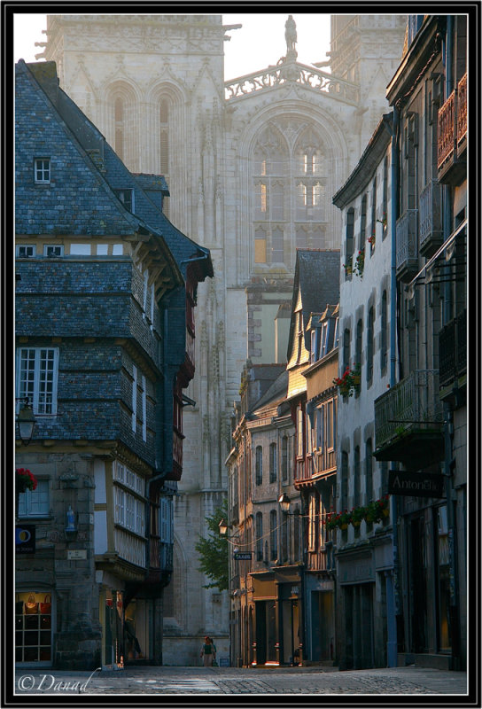 Rue Keréon. Quimper. (Early Morning).