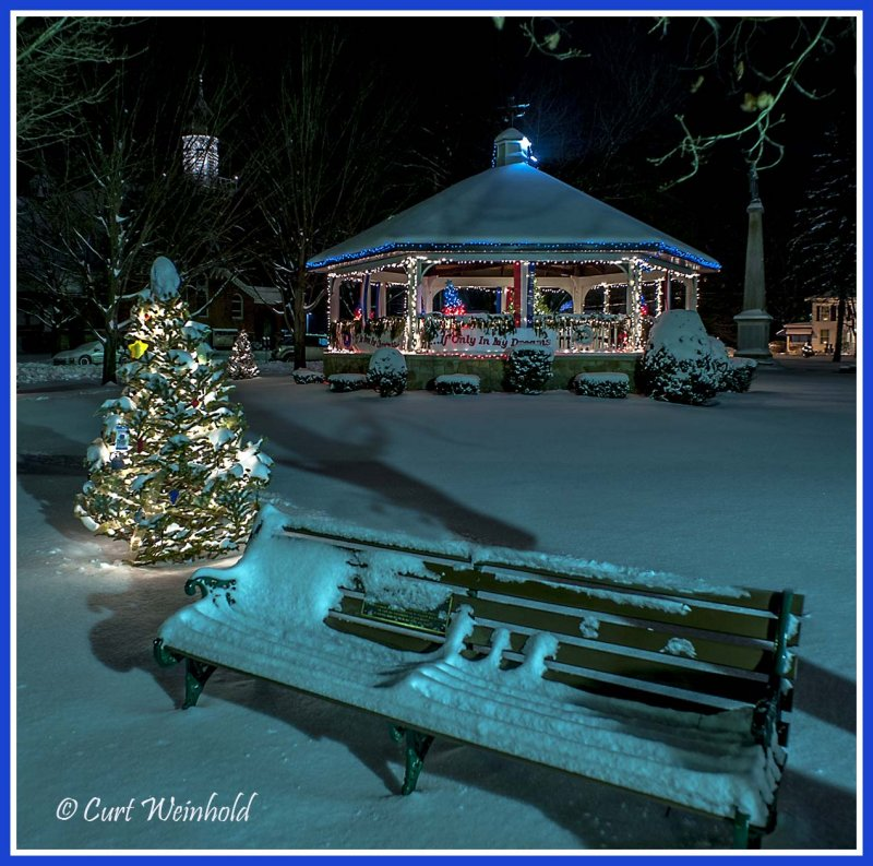 Coudersport gazebo & park bench