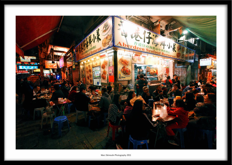 Seafood restaurant, Temple Street, Hong-Kong 2011