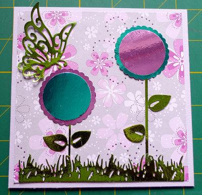Mirror card flowers