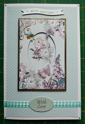 Butterfly and birds panel
