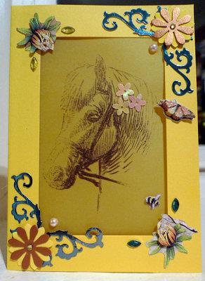 Horse on parchment