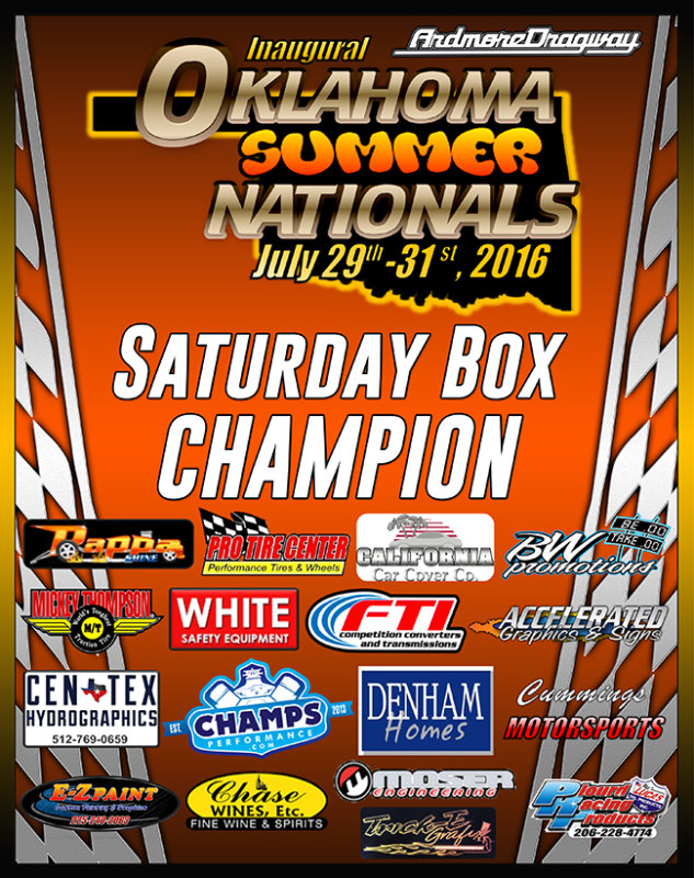 Oklahoma Summer Nationals 2016 Plaques