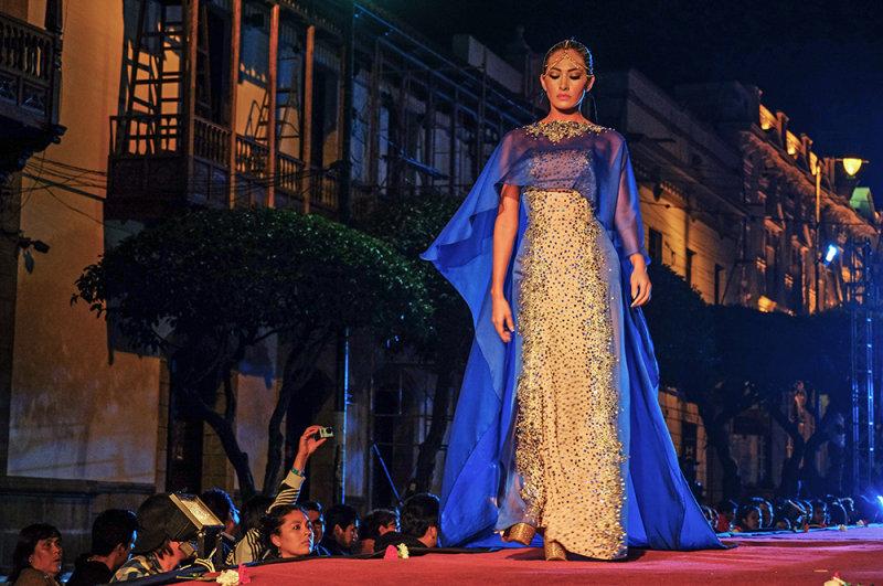Fashion show, Sucre, Bolivia, 2014