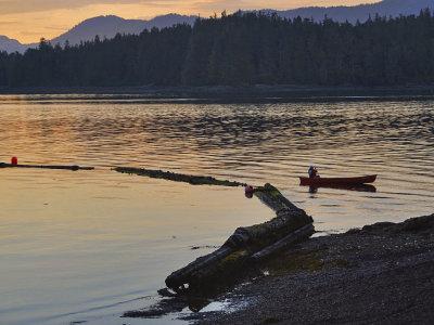 Summer night, Cannery Cove, Pybus Bay, Alaska, 2013
