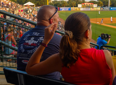 Riverdog fans, Riley Park, Charleston, South Carolina, 2013