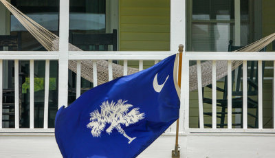 State flag, Isle of Palms, South Carolina, 2013
