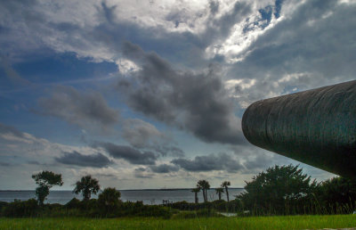 Guns over Fort Moultrie, Charleston, South Carolina, 2013