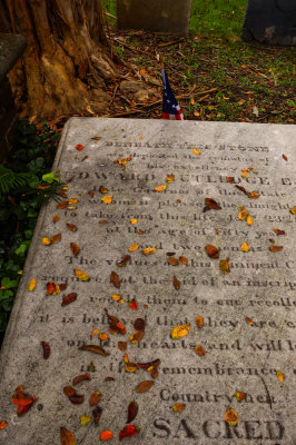 Under the leaves, St. Philips Graveyard, Charleston, South Carolina, 2013